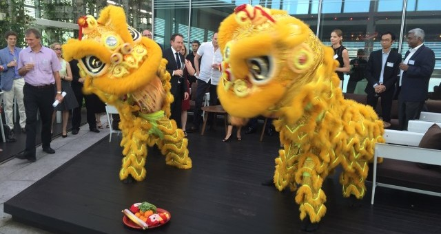 Davies Collison Cave Official Opening; Lion Dance troupe in action